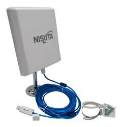 CPE EXTERIOR USB NSWIUCPE310 NISUTA 12DBI 300MBPS 2.4 GHZ